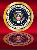 Presedent Seal Reflection. A depiction of the seal of the president of the United States of America with reflection Royalty Free Stock Images
