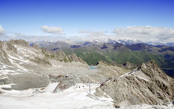 Presena glacier and the cableway in Lombardy, Italy Royalty Free Stock Image