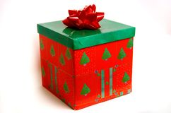 Present. A Christmas present wrapped with a bow Stock Images