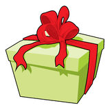 Present. Vector illustration, Box with a gift tied up by a tape Royalty Free Stock Photography