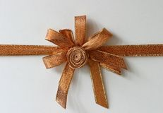 Present. Ribbons and bow for gifts Royalty Free Stock Photos