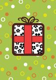 Present. Illustrated Present on a background of circles and spots Royalty Free Stock Photos