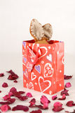 Present. Valentine present for my love Stock Images