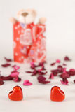 Present. Valentine present for my love Royalty Free Stock Photo