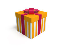Present 2. 3d rendered fancy box birthday present on white background Royalty Free Stock Photos