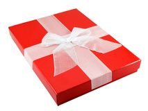Present. Christmas present isolated on a white background Royalty Free Stock Image