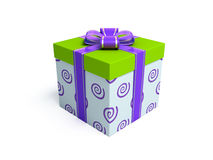 Present 4. 3d rendered fancy box birthday present on white background Stock Images
