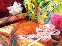 Present. Boxes on background - OTHER S Royalty Free Stock Image