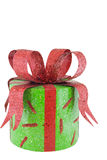 Present. With large red bow isolated on white Royalty Free Stock Photo