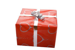 Present. Red isolate present for somebody who love Stock Images