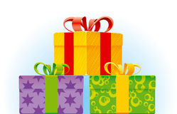 Present. Hands vector drawing. Detailed image Stock Images