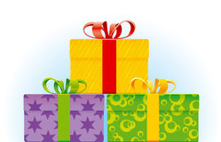 Present. Hands vector drawing. Detailed image Stock Image