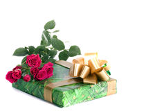 Present And Roses Stock Images