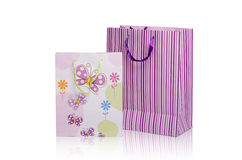 Present bags royalty free stock photo