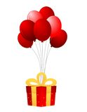Present and balloons Royalty Free Stock Photo