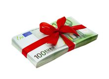 Present of Banknotes stock photography