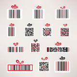 Present barcode vector image set Template for your. Design Stock Images
