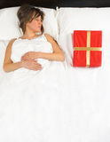 Present in the bed Royalty Free Stock Photo