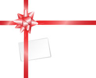 Present with blank card Royalty Free Stock Photos
