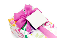 Present with blank tag Royalty Free Stock Photo