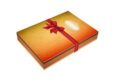 Present book with red ribbon Royalty Free Stock Photography