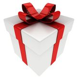 Present with bow isolated Royalty Free Stock Photo