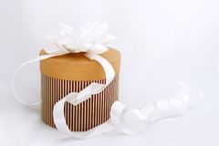 Present with bow isolated Royalty Free Stock Images
