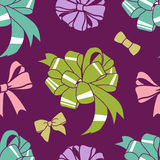 present-bows-pattern Stock Image
