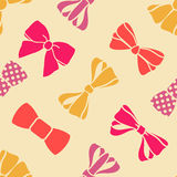 Present bows pattern Royalty Free Stock Image