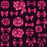 Present bows set Royalty Free Stock Photos