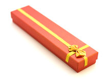 Present box. With jewelry ribbon Royalty Free Stock Photo