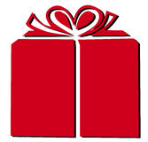 Present box. In red color Royalty Free Stock Photography