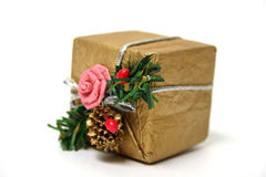 Present box. Isolated. Background white Stock Photo
