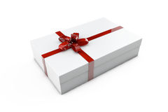 Present box. White present box on white background Stock Photography