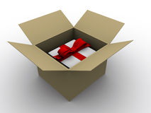 Present in box Royalty Free Stock Photography