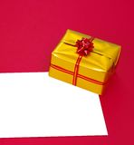 Present box and blank Royalty Free Stock Photos