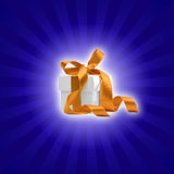 Present box with blue background 2 Stock Images