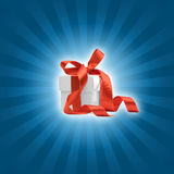 Present box with blue background Stock Images