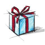 Present box with bow Royalty Free Stock Photography