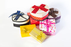 Present box with bow Royalty Free Stock Photo