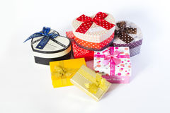 Present box with bow Royalty Free Stock Images