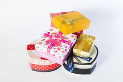 Present box with bow Stock Images