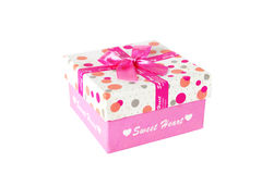 Present box with bow Royalty Free Stock Image