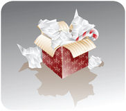 Present box with a candy Stock Image