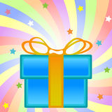 Present box composition Royalty Free Stock Images