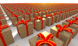 Present Box Computer Generated Image stock images