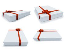 Present box in different positions Stock Photo
