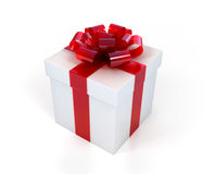 Present box with an elegant bow Royalty Free Stock Photo