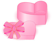 PRESENT BOX HEART near Stock Images