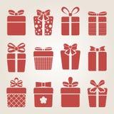Present box icons Stock Image